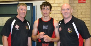 Callum Cassidy after winning the WA state boxing title