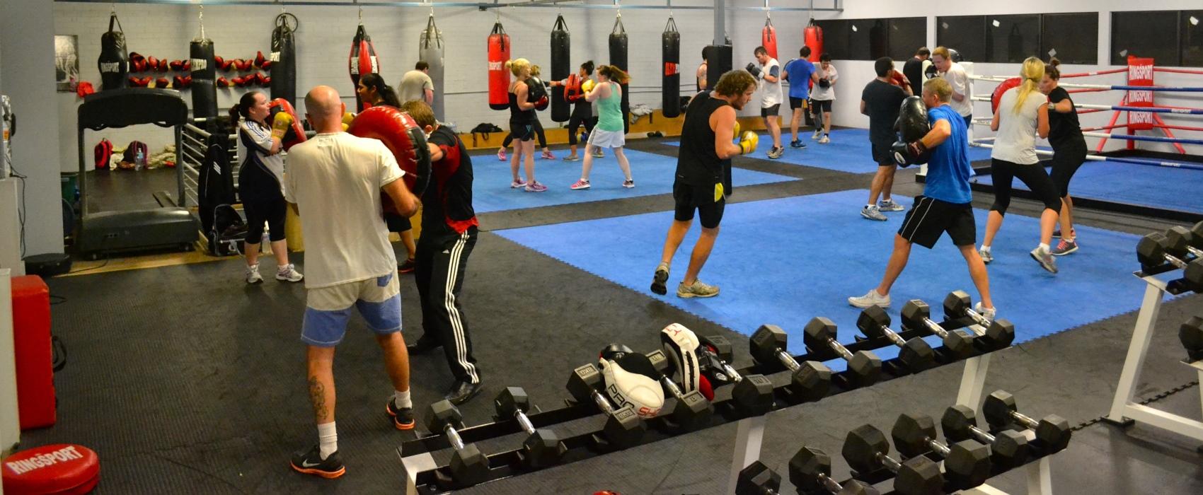 Premier boxing club round pad training
