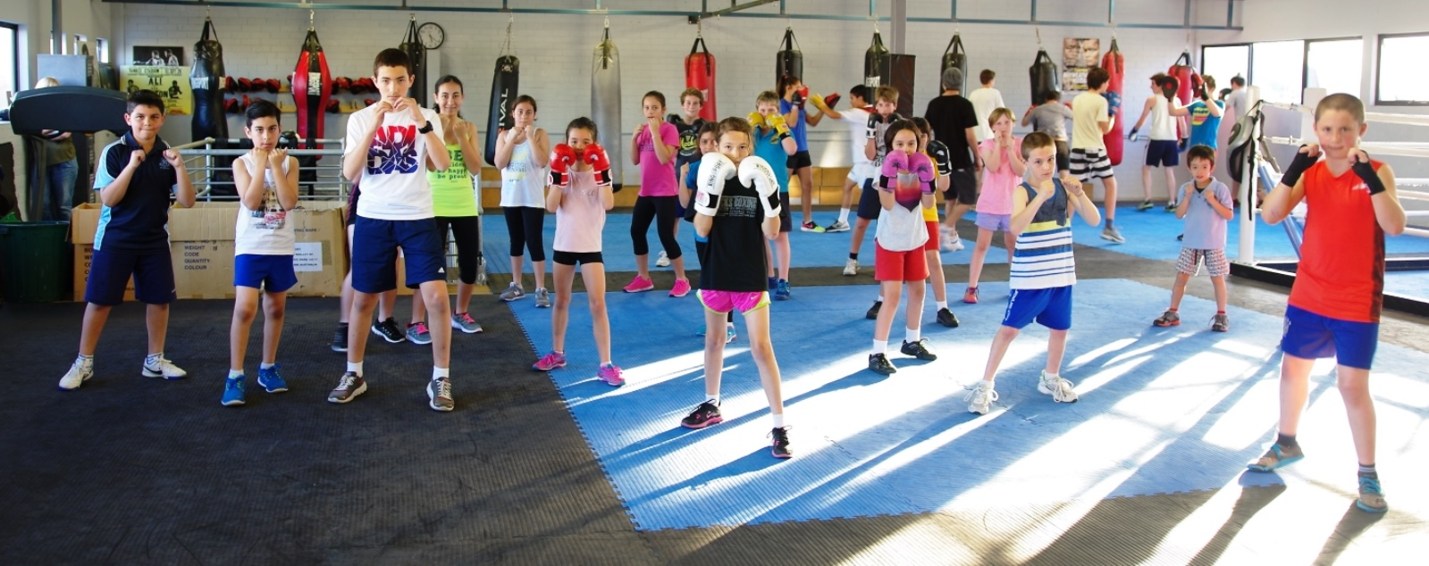 Children boxing class at Premier boxing club