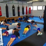 Kids boxing class core work out